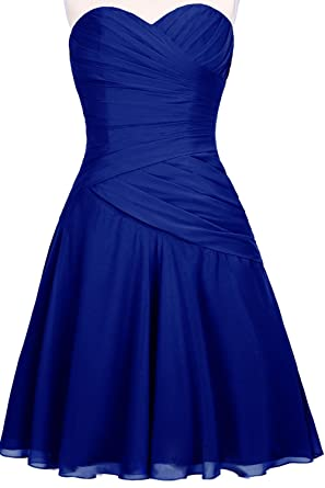 Orient Bride Women Elegant Summer Sweetheart Sleeveless Short Prom Dresses For Girls Size 18 UK Royal