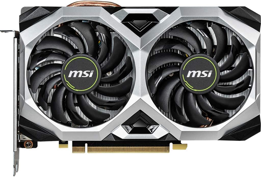 MSI Gaming GeForce RTX 2060 6GB GDRR6 192-bit HDMI/DP Ray Tracing Turing Architecture VR Ready Scheda grafica (RTX 2060 VENTUS XS 6G OC)