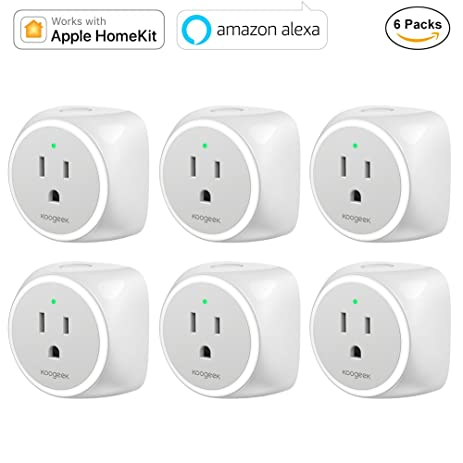 Koogeek Smart Plug, WiFi Outlet, Works with Amazon Alexa and Apple HomeKit