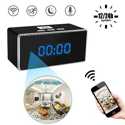 Cámara Espía Reloj, UYIKOO 1080P WiFi Cámara Oculta Cámara ...