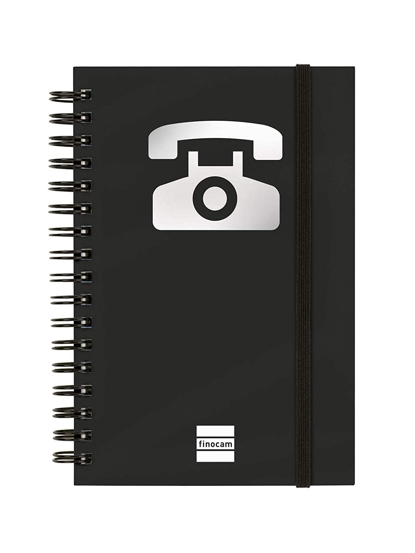 Finocam 8510560 - Índice telefónico phone 10 x 15, color negro