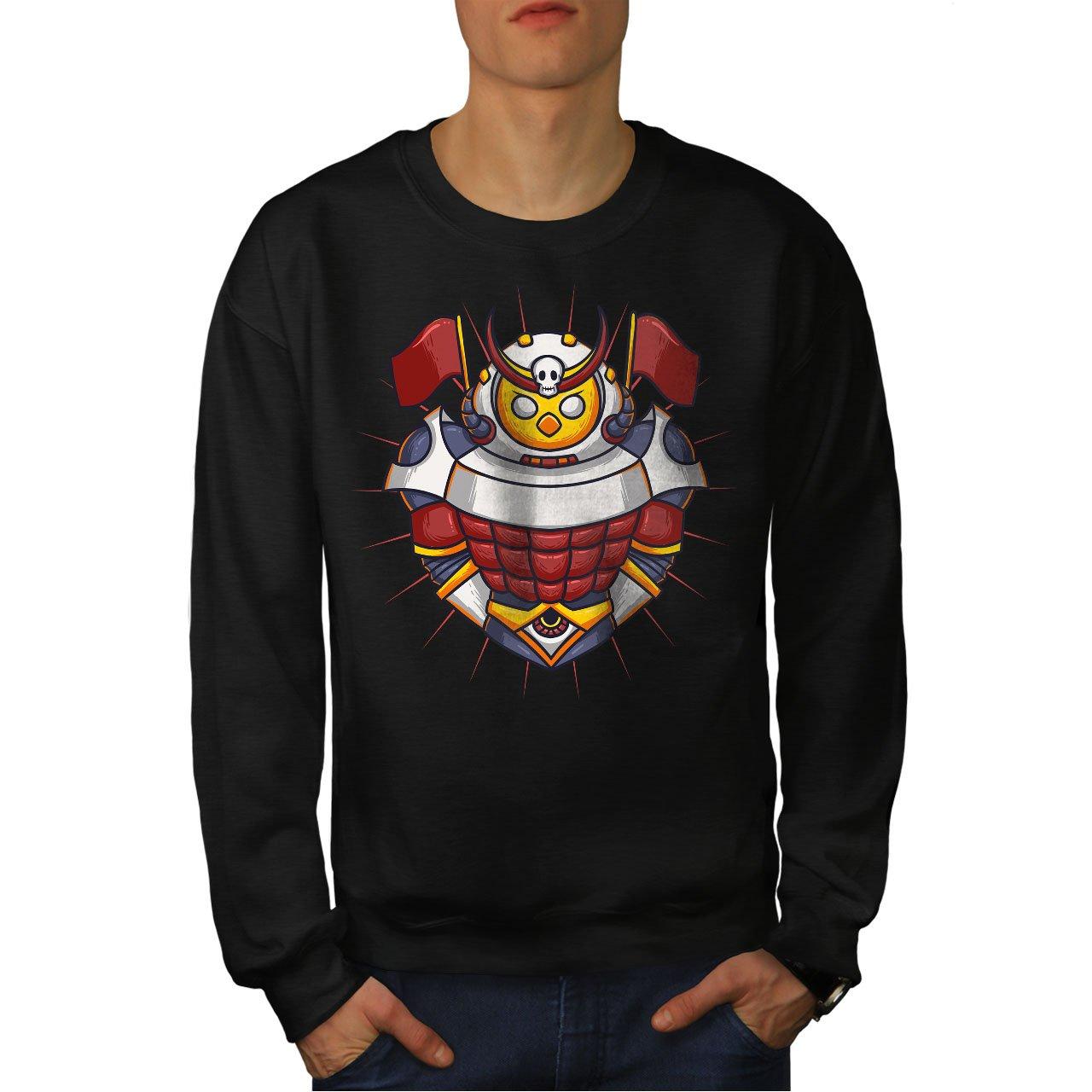 wellcoda Knight Colorful Mens Sweatshirt Drawn Creature Casual Jumper