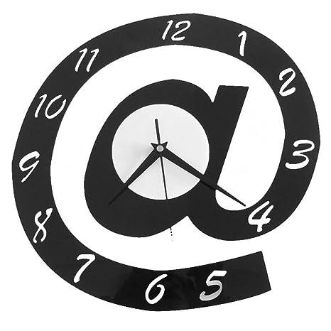 Reloj de pared, vanpower forma de letra 3d Digital reloj de pared moderno redondo con