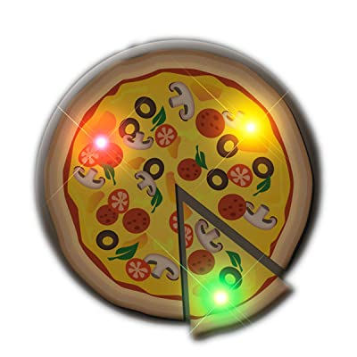 blinkee Pizza Flashing Body Light Lapel Pin Party Favors by: Toys & Games