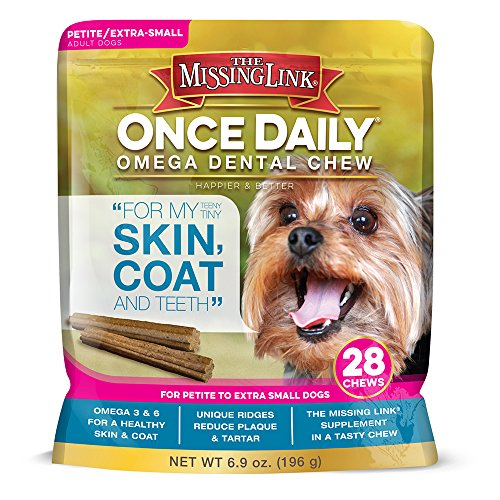 The Missing Link Once Daily Omega Dental Chew Skin, Coat & Teeth for Petite/X-Small Dogs