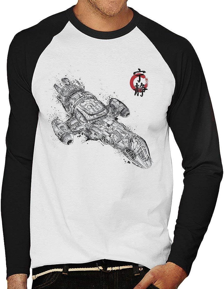 Firefly Serenity Sumi E Men/'s Baseball T-Shirt