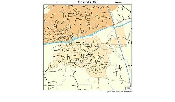 Jonesville Nc Map.Amazon Com Large Street Road Map Of Jonesville North Carolina Nc