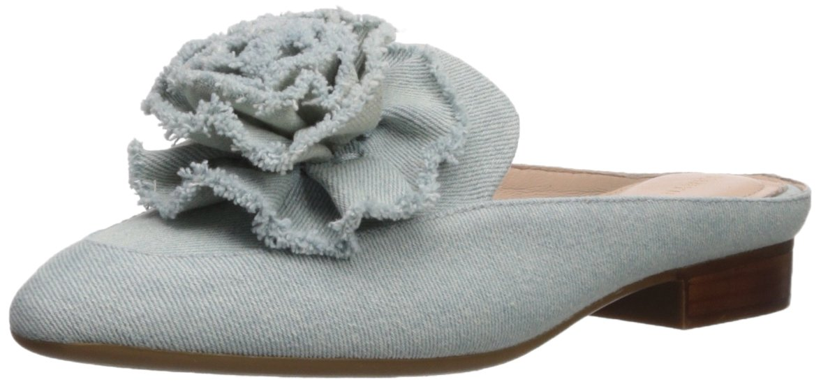 Taryn Rose Women's Blanche Denim Mule, Light Washed, 7.5 M M US