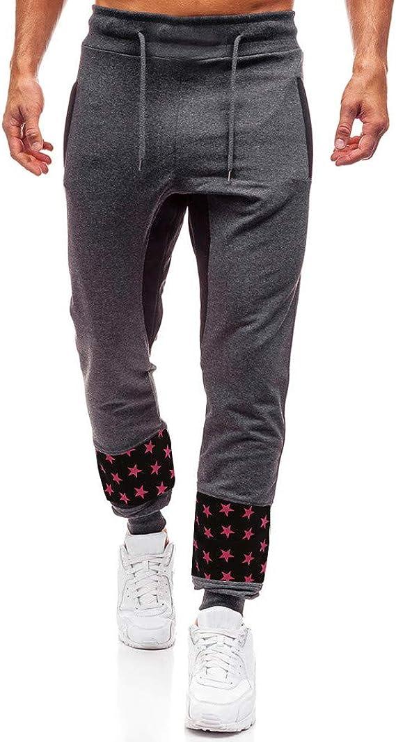 Hombre Pantalones Largos Deportivos Moda Impresos Pantalones de ...