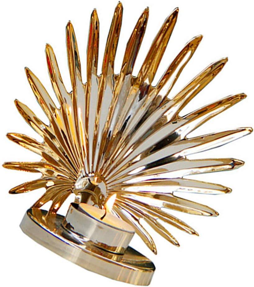 GARNECK Candelabro Candelabro de Escritorio Metal Dorado Candelabro Candelabro para Decoraci/ón del Hogar