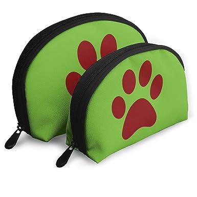 63af6ad667fe Amazon.com: Portable Bags Clutch Pouch Cat Paw Clip Art Storage Bag ...