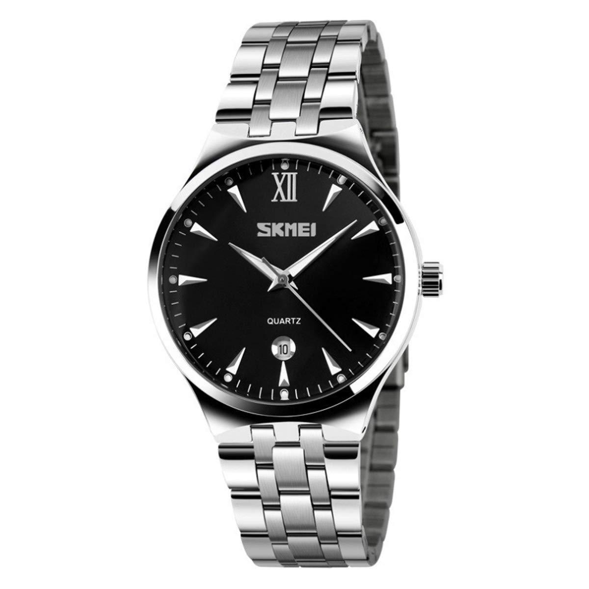 WUTONYU Women s Analog Quartz Watch Stainless Steel Luminous Business Casual Waterproof Calendar Date Window Wristwatch