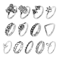 13 pz/set boho Nocca dito MIDI Elephant Moon Flower Stacking Ring Jewelry Amesii
