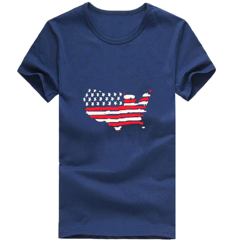 Amazon.com: refulgence 4th Retro Style Patriotic American Flag T-Shirt Vintage Short Sleeve O-Neck Womens Tee Shirts: Clothing