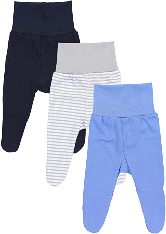 TupTam Baby Boys Footed Trousers Pack of 3