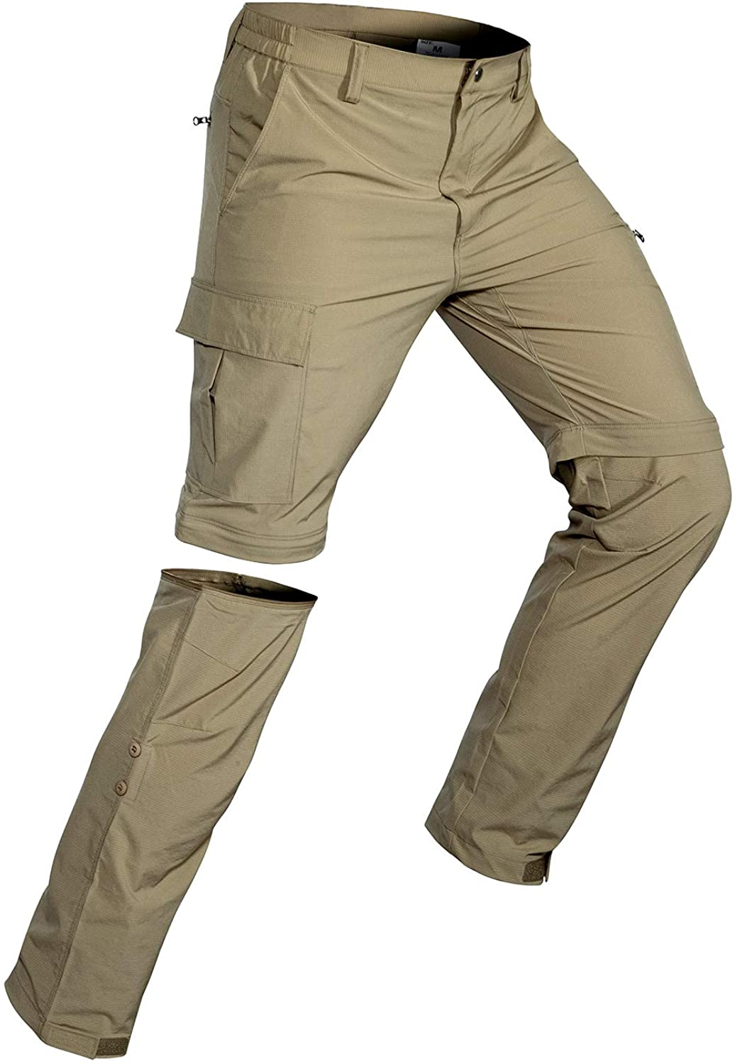 Fishing Wespornow Mens-Convertible-Hiking-Trousers Quick Dry Lightweight Zip Off Breathable Cargo Trousers for Outdoor Safari