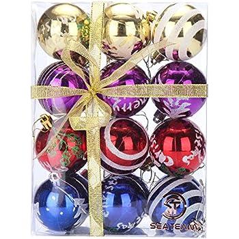 Amazon.com: Festive Season Assorted Ripple Christmas Tree Ornament ...