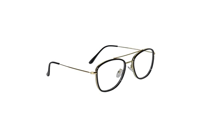 6dbbe54ea4 Image Unavailable. Image not available for. Colour  Peter Jones Black Gold Aviator  Unisex Optical Frame ...
