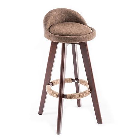 sgabelli legno rotazione bar retr sedia bar prima colazione sgabelli cucina sedia girevole sedile lino