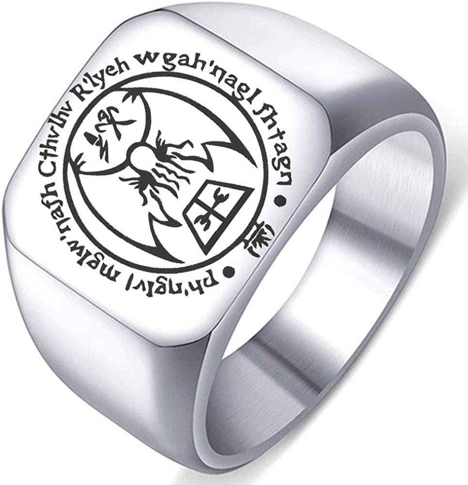 Reanimator and The Dunwich Horror by HP Lovecraft Badali Jewelry Cthulhu Miskatonic University Class Ring Inspired from The Gothic Horror Stories Herbert West