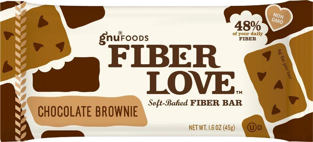Gnu Foods Fiber Love, Choc Brownie, 1.60-Ounce (Pack of 8)