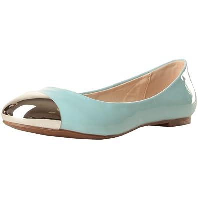Gas Footwear Originals Damen Schuhe Ballerinas Ballet Flats hellblau Lack Optik mit Metallspitze Gr. 39 40 (39) p641ez
