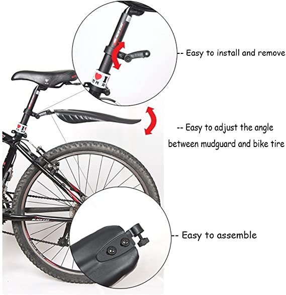 Mountain Bike Mudguard 26/'/' Bicycle Cycling Front Rear Mud Guards Fenders Set/</<