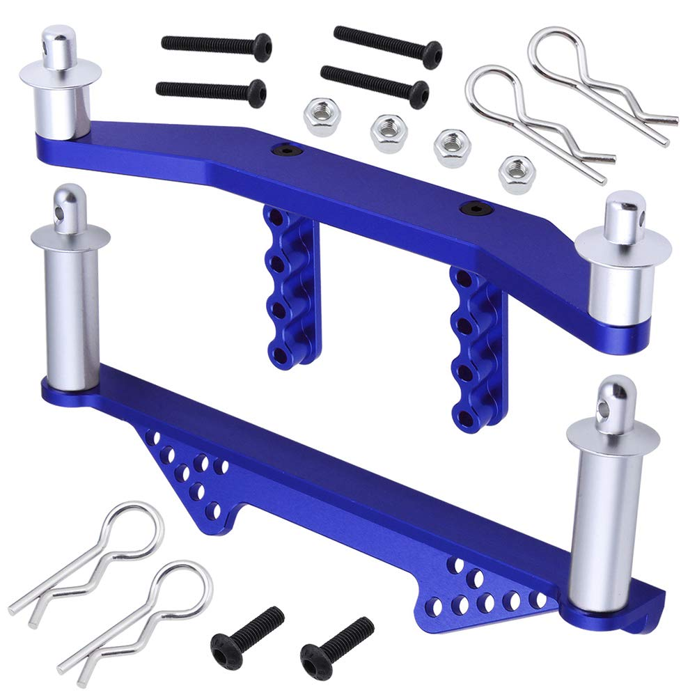 Hobbypark Aluminum Front & Rear Body Mounts with Body Posts Clips for Traxxas Slash 2WD 1/10 (Navy Blue) 61qEx1wdyAL