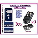 3 X Chamberlain 84335EML, 84335E, 84333EML, 84333E, 84330EML, 84330E kompatibel handsender, ersatz sender, 433.92Mhz rolling code. 3 Stücke Top Qualität ersatzgeräten!!!