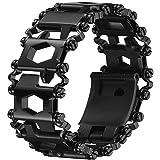 Multifunctional Tool Bracelet 29 In 1 Black Friendly Glossy Bracelet Wristband Stainless Steel Wearable Bracelet Wearable Out