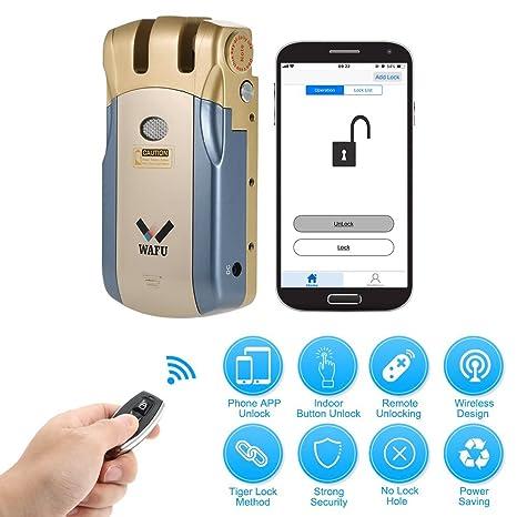 WAFU WF-018U Cerradura Inteligente Inalámbrica Cerradura Invisible Cerradura Control Remoto Desbloqueo de iOS Android