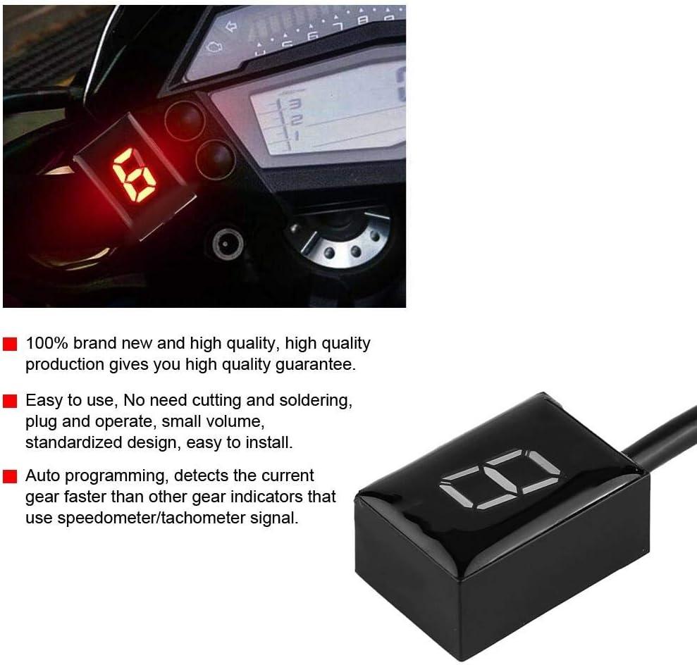 sensores de palanca de cambio digital de velocidad de montaje del indicador de cambio de motocicleta Indicador de cambio Suuonee
