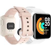 GeeRic Compatibel met Xiaomi Mi Watch Lite armband, 8 stuks, siliconen band, compatibel met Mi Watch Lite reserveband