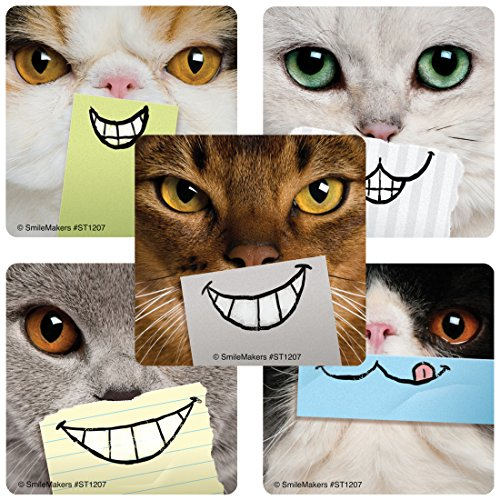 Dental Cat Smiles Stickers - Prizes and Giveaways - 100 per Pack
