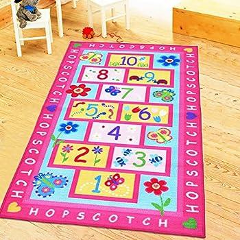 HUAHOO Pink Rug Girls Pink Kids Rug,Childrenu0027s Rugs Baby Nursery RugsKids  Rugs Carpet Girls