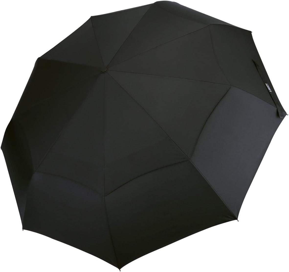Une canop/ée de 42 inch 210T Tissu Parapluies de voyage et Sorties en plein air Ouverture et Fermeture Automatique Compact et Pliable G4Free Parapluie Pliant Coupe-vent