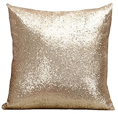 Multi-size Glitter Sequin Stuffed Cushion Cover LivebyCare Satin Sparkling Throw Pillow Case Sham Pattern Zipper Pillowslip Pillowcase For Home Sofa Couch Bedding Chair Seat Back