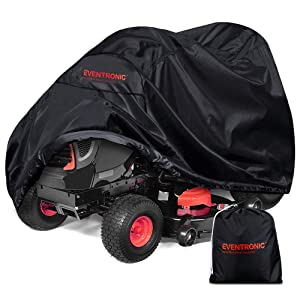 Eventronic Riding Lawn Mower Cover, Riding Lawn Tractor Cover 210D Waterproof UV Resistant Mildew Heavy Duty Durable (L71 xW47 xH43)