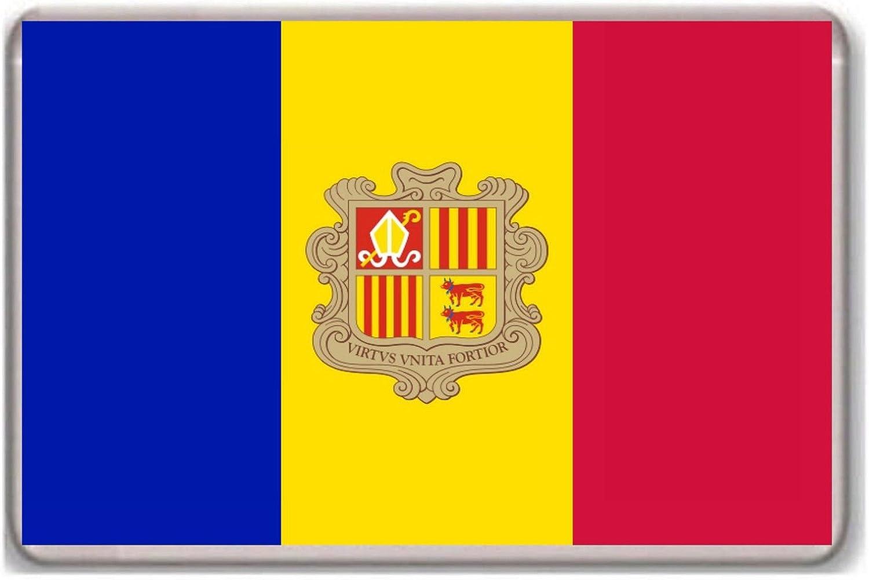 Flag of Andorra FRIDGE MAGNET