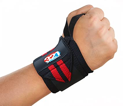 "Fitness Wrist Wraps – 20"" Medium Duty with Thumb Loop – Best Velcro Wraps for Weight Lifting Protection – Pair of Two for Men or Women with Bonus eBook"