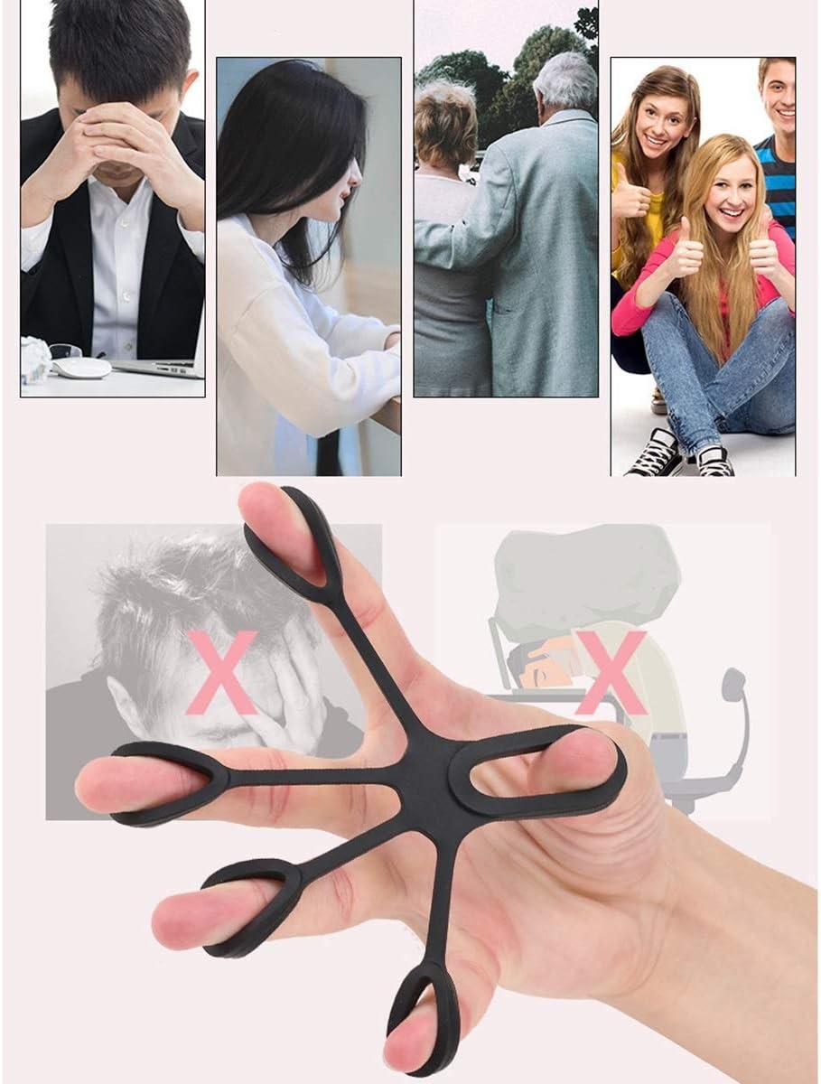 Finger Trainingsger/ät Hand trainingsger/ät Set Finger Exerciser Finger Stretcher Set f/ür Relieve Wrist /& Thumb Pain und Arthritis Karpaltunnel/übungen Fingertrainer Ring 3 St/ück Handtrainer