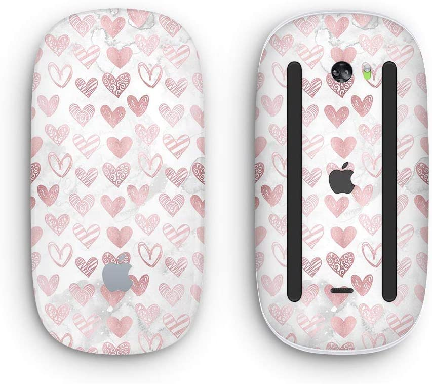 Wireless, Rechargable Karamfila Marble /& Rose Gold Hearts v3 with Multi-Touch Surface Design Skinz Premium Vinyl Decal for The Apple Magic Mouse 2