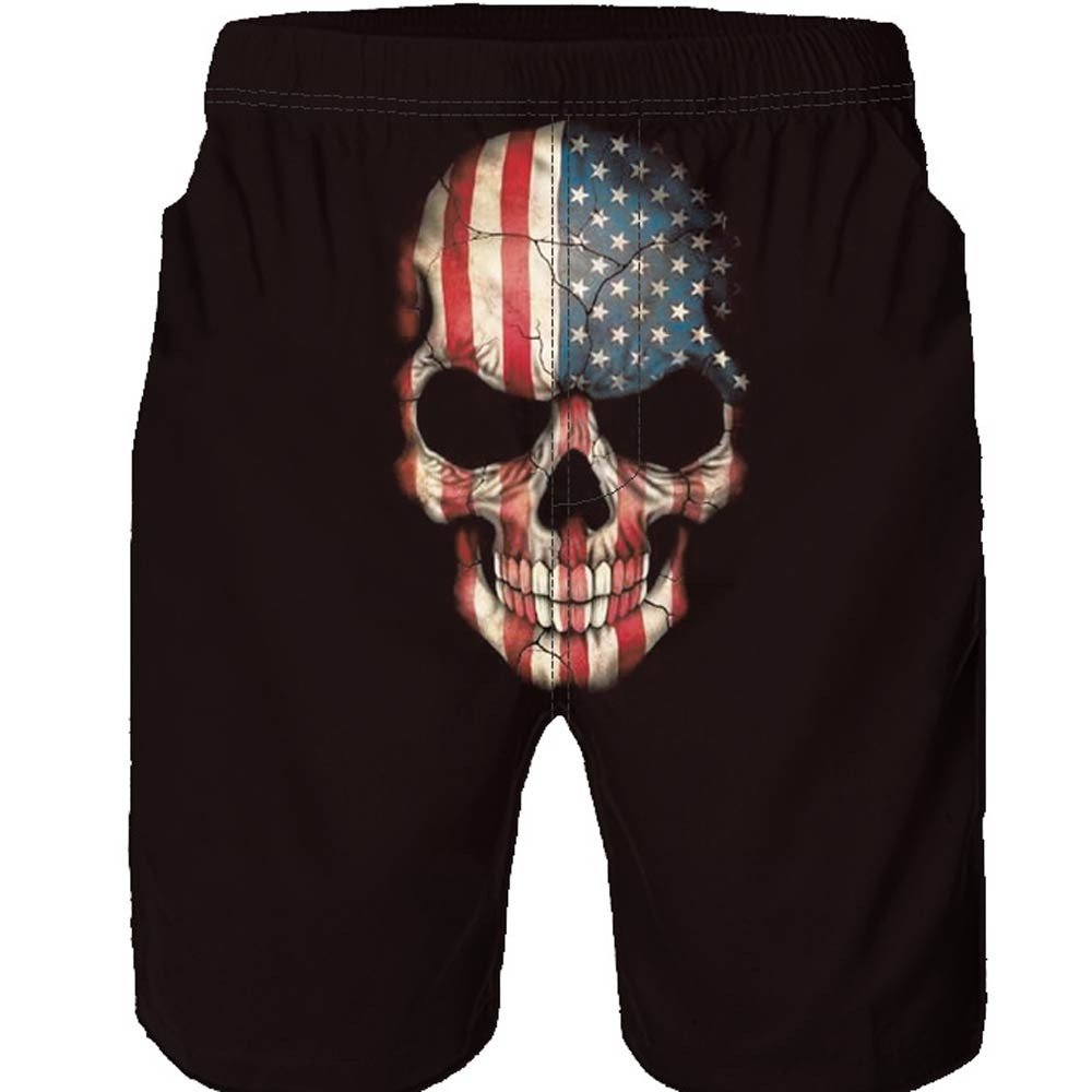 JUTOO 2019 Pantalones de playaHombres Casual 3D Skull Impreso Trabajo en la Playa Casual Hombres Pantalones Cortos Pantalones Cortos: Amazon.es: Ropa y ...