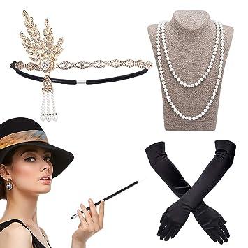 Damen Handtasche schwarz Damen Hand Tasche 20er Jahre Kostüm Accessoire