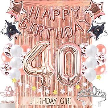 Amazon.com: Globo de 40 cumpleaños decorativo, diseño con ...