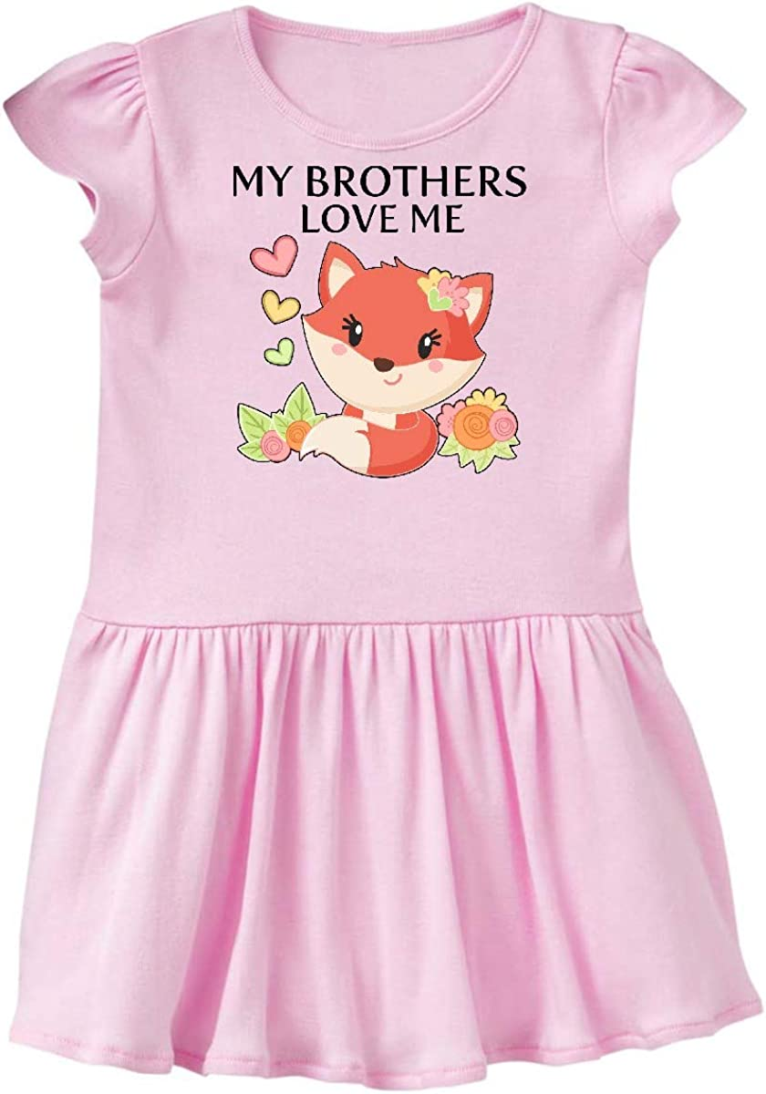 inktastic My Brothers Love Me Little Fox Baby T-Shirt