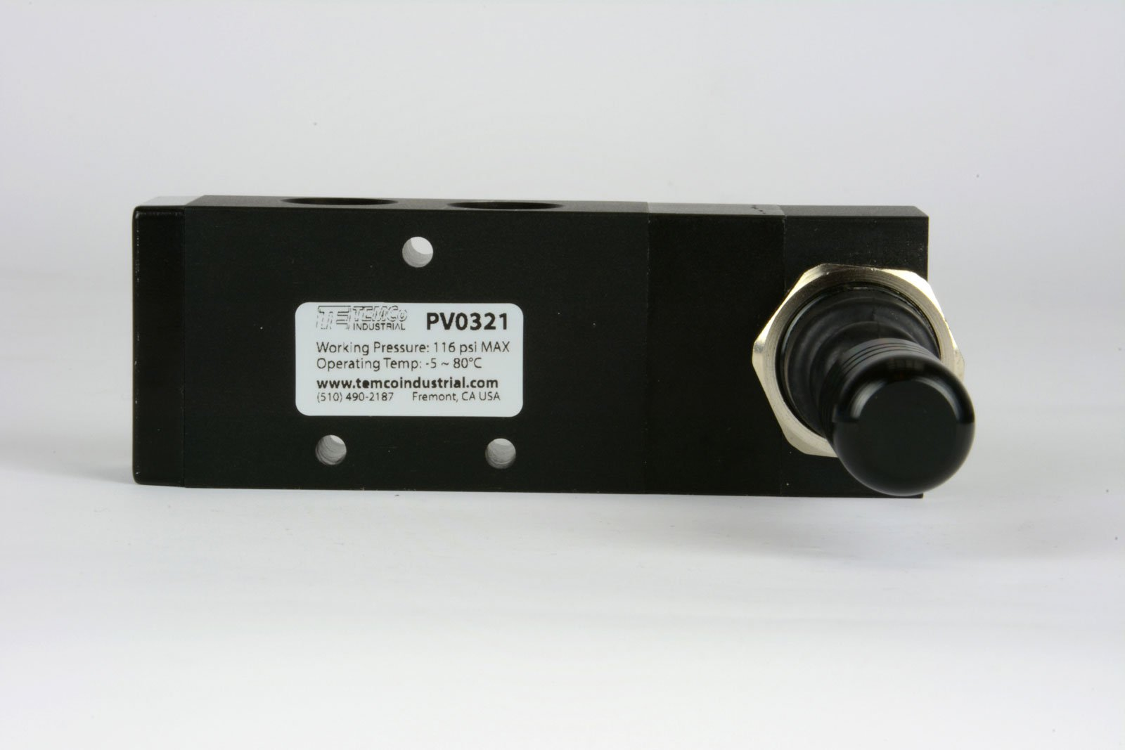 Spring Return Lever Pneumatic Air Control Valve 5 Port 4 Way 3 Position 3/8'' NPT by Temco (Image #2)