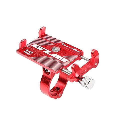 SMILEQ Soporte Antideslizante Ajustable del Soporte del teléfono móvil para Xiaomi Mijia M365 eléctrico (Rojo)