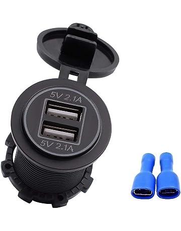 5V 4.2A se dobla salida del adaptador del zócalo del cargador USB para el coche