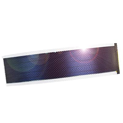 JIANG Small Flexible Thin Film Solar Power Panel Cells DIY boondocking ETFE photovoltaic 0.3W1.5V 240ma (Transparent)